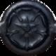 Черный полуматовый