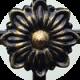 Античный черный с позолотой