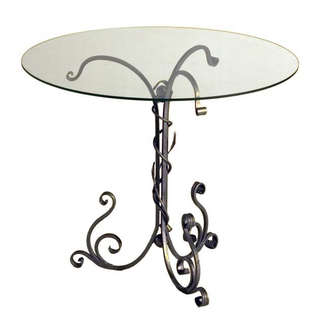 кованые столики со стеклом