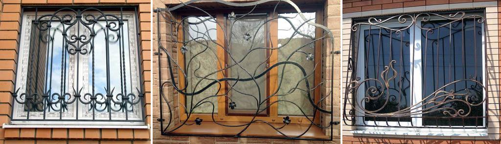 кованые решетки на окна цена киев