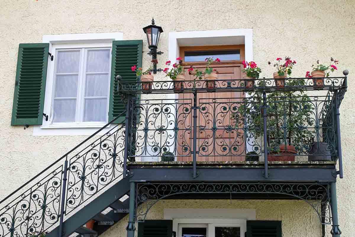 Балконные перила из ковки